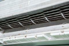 空调器和肮脏的鼠笼爱好者 免版税库存照片