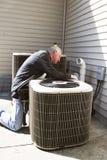 空调器安装工 图库摄影