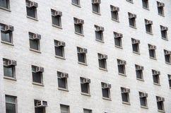 空调器小点都市大厦 免版税库存照片