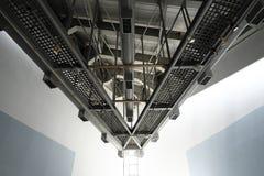 空调器透气在大厦的设施系统 库存图片