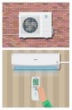 空调器系统 向量例证