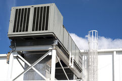 空调工业设备 免版税库存照片