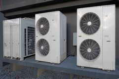 空调装置公寓外 免版税库存照片