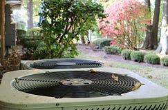 空调装置在物产外面 库存图片