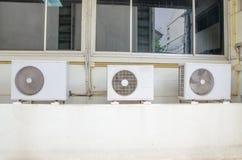 空调:凝聚的单位 免版税图库摄影