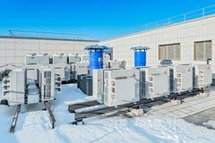空调系统三菱 免版税库存照片