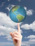 空转的世界 免版税库存照片