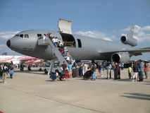 空运货物强制飞机 免版税库存图片