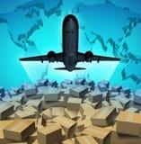空运货物 向量例证