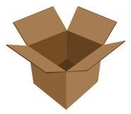 空配件箱的纸板 免版税库存图片