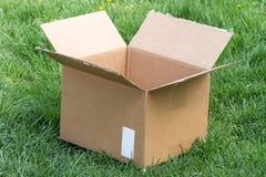 空配件箱的纸板 免版税库存照片