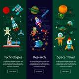 空间、太空飞船、宇航员、行星、空间站和飞碟 库存照片