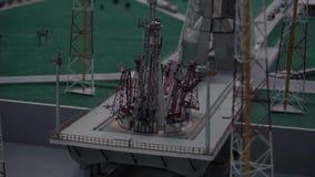 空间发射系统 航空基地的陈列在缩样的在太空博物馆 股票视频