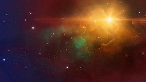 空间场面 与starfield的Coloful星云 元素装备了b 库存例证