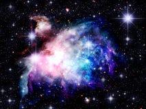 空间星云 向量例证