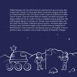 空间流浪者和宇航员的传染媒介例证 免版税图库摄影