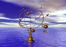 空间浪潮时间 向量例证