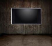 空间电视木头 免版税库存图片