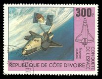 空间研究,哥伦比亚航天飞机 图库摄影