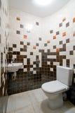 空间简单的洗手间 免版税库存图片