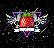 空间草莓 库存图片