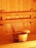 空间蒸汽浴 库存照片