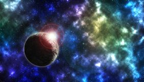 空间行星和星 库存照片