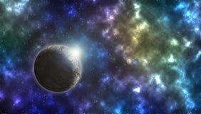 空间行星和星 免版税图库摄影