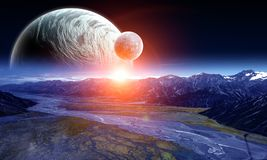 空间行星和自然 免版税库存图片