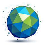 空间传染媒介绿松石数字式对象, 3d技术 免版税库存图片