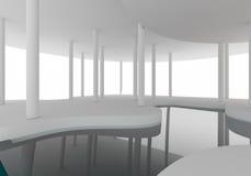 空间内部曲线建筑 免版税库存图片