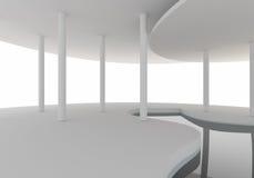 空间内部曲线建筑 免版税库存照片