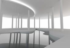空间内部曲线建筑 免版税图库摄影