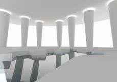 空间内部建筑 免版税库存图片