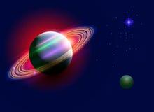 空间土星 库存照片