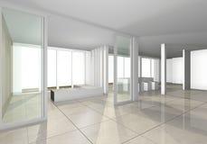 空间室内设计 皇族释放例证