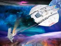 空间战争 免版税库存图片