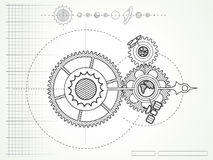 空间技工图纸  免版税库存照片