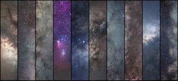 空间拼贴画 天文拼贴画 天体摄影拼贴画 宇宙 库存图片