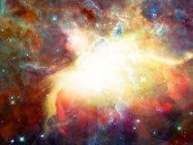 空间星云 皇族释放例证