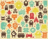 空间机器人五颜六色的背景。 免版税库存照片