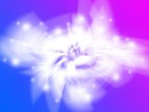 空间样式蓝色和紫色背景 免版税库存照片