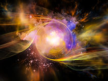 空间漩涡 库存图片