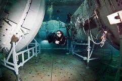 空间轻潜水员 库存照片