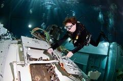 空间轻潜水员 库存图片