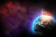 空间爆炸 库存图片