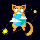 空间猫 免版税库存照片