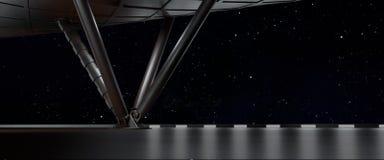 空间环境准备好您的字符3D comp回报 皇族释放例证
