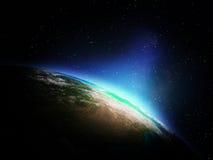 从空间的世界地图 库存图片