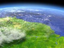 从空间的亚马逊三角洲 库存例证